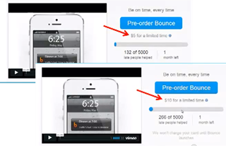 Bounce A/B Testing for Price Points