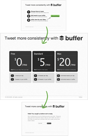 Buffer Landing Page with Pricing