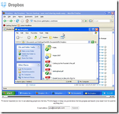 Dropbox Landing Page with Video